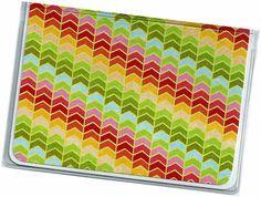 Mini Wallet / Card Case  Rainbow Herringbone  by rabbitholeonline, $4.25