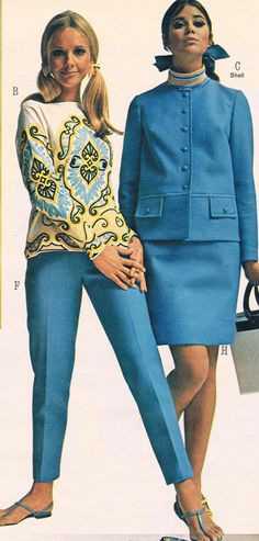 Penneys catalog Cay Sanderson and Colleen Corby. 60s And 70s Fashion, 60 Fashion, Fashion History, Retro Fashion, Vintage Fashion, Womens Fashion, 60s Vintage Clothing, Vintage Outfits, Twiggy