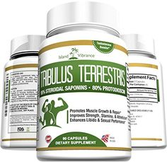 Pure Tribulus Terrestris Extract Powder Capsules: Over 1000mg for Optimum Results. For Women and Men. Testosterone Booster and Libido Enhancer. 90 Count, Full 45 Day Supply. Island Vibrance http://www.amazon.com/dp/B00YWZ1IAU/ref=cm_sw_r_pi_dp_5ck5wb16R7B0T