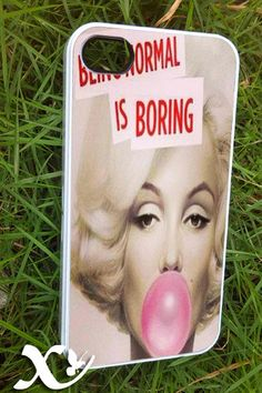 Marilyn Monroe being normal   iPhone 4/4s/5/5c/5s Case by KALIDORO, $15.00