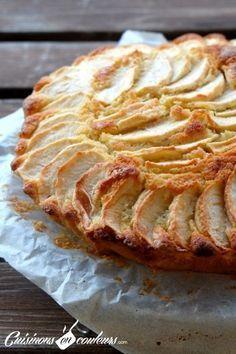 Mi cake, half pie … apple fondant gala – chefs in the colors - RECiPE Apple Recipes, Sweet Recipes, Cake Recipes, Grilled Desserts, Köstliche Desserts, Summer Dessert Recipes, Easy Smoothie Recipes, Fondant Cakes, Quiches