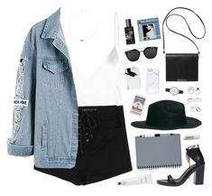"""Trying not to fall - 18 birthday"" by bomlion ❤ liked on Polyvore featuring Ann Demeulemeester, Monki, Bao bao wan, Iosselliani, Topshop, ASOS, Olivia Burton, Casetify, TokyoMilk and Rodin"
