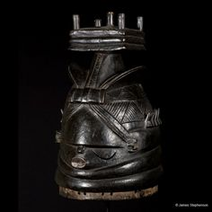 Mende Mask  Sierre Leone 1930's 16 1/2″ w x 8 1/2″ h