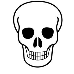Free Printable Pictures of Skulls | File:Skull-Icon.svg - Wikimedia Commons