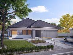 Decyma 6 projekt domu - Jesteśmy AUTOREM - DOMY w Stylu House Layout Plans, My House Plans, House Layouts, Modern Bungalow, Home Fashion, Home Projects, Sweet Home, Shed, New Homes