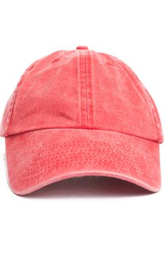CMNDR, Pigment Dyed Washed Dad Hat - Red - CMNDR - MOOSE Limited