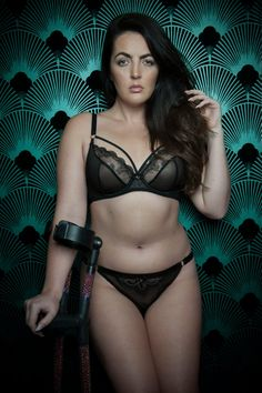 9562f9becbb Gemma in Scantilly by Curvy Kate s Surrender lingerie set - a sheer harness  bra in DD