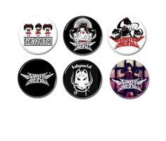 6 x Babymetal band buttons, badges, pinbacks. by amphetaminesmall on Etsy