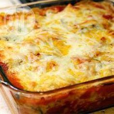 Gratín de fideos con espinaca y quesos: Rico y novedoso este gratín con fideos y espinaca es muy sano y una excelente manera de servir más verduras a la familia.
