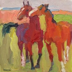 Larisa Aukon. Horsing Around by Larisa Aukon ~ 8 x 8