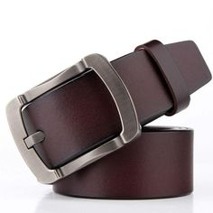 Cheap Belts & Cummerbunds, Buy Directly from China Suppliers:Badinka Genuine Cow Leather Belts for Men Jeans High Quality Men's Black Brown Cowhide Cowskin Belt Strap Ceinture Homme Leather Belts, Cowhide Leather, Cow Leather, Men's Belts, Rugged Style, Men's Accessory Box, Waist Jewelry, Designer Belts, Adulting