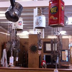 Wind chimes from old silver