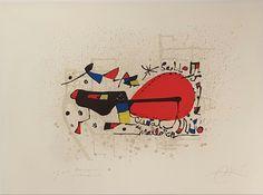 """Joan Miró """"Joan Miró y la Pintura"""" Litografía Año: 1978 Dimensiones: 55,8 x 75,8 cm Tirada de 60 ejemplares Dedicada a Joan Barbará y firmada a mano Certificada por el Editor Mourlot 1165. Cramer 238 Precio: Consultar Web   Si está interesado en comprar esta obra gráfica, escríbanos a: galeria@grabadosylitografias.com"""