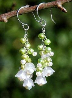 Open and scroll down. LOVELY ideas to make earrings