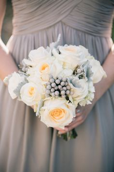 Rustic bridesmaid bouquet: http://www.stylemepretty.com/little-black-book-blog/2015/05/27/rustic-chic-hudson-river-valley-wedding/ | Photography: Kelly Kollar - http://kellykollar.com/