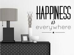 Adesivi murali Happiness is everywhere #adesivi murali #stickers #parete #home #decor #decorazioni