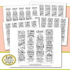 Color Your Own Jesus is Alive Bible Bookmarks by karladornacher