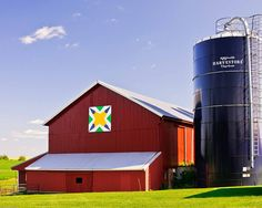 Barn Quilt - Turbine. Green County, WI