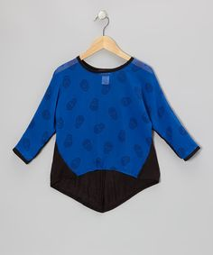 Just got this for Jaden... $5 on Zullily ...so cute!  Love this Royal Skulls Hi-Low Sheer Top - Girls by Btween on #zulily! #zulilyfinds