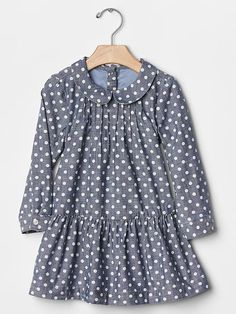 babyGap + Peanuts® dot chambray dress - The gangs all here! Catch the limited time babyGap + Peanuts® collection of cool classics and new favorites.