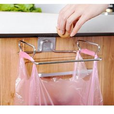 Redriver Metal Hanging Garbage Bags Rack Kitchen Wash Cloth Towel Storage Holders Wall Hanging Cupboard Cabinet Stand Organizer Shelf >>> Click image for more details. (This is an affiliate link) Kitchen Cupboard Organization, Kitchen Cupboards, Cabinets, Towel Storage, Storage Rack, Closet Storage, Garbage Bag Holder, Bag Rack, Cupboard Drawers