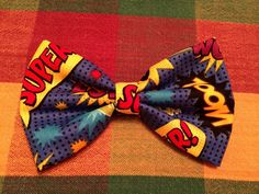 Comic book bow by kcRoyalImpressions on Etsy