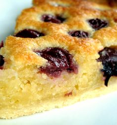 Cherry Frangipane. Delicious served warm or cold with a cup of tea! #dessert #cherry #Frangipane
