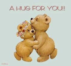 Is this cute or what?? a hug for you teddy bears