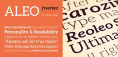 Aleo free font 100 Greatest Free Fonts Collection for 2013 - Awwwards - typefaces, webfonts, free fonts