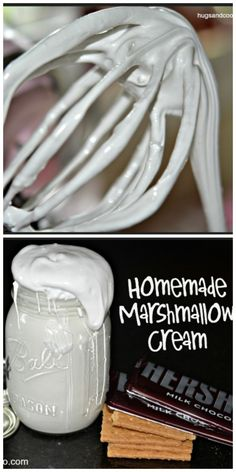 Making homemade marshmallow fluff very simple. This recipe makes a ton ...