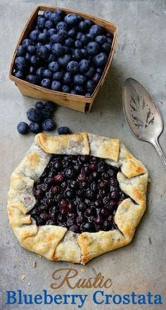 Hypoallergenic Pet Dog Food Items Diet Program A 30 Minute Blueberry Crostata Recipe. Otherwise called Galette, Rustic Pie Or Rustic Tart, It Is Perfect For New Bakers You Cannot Go Wrong With This One. Köstliche Desserts, Delicious Desserts, Dessert Recipes, Yummy Food, Italian Desserts, Health Desserts, Recipes Dinner, Italian Cookies, Plats Healthy
