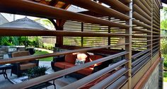 Porch and Patio Shutters for privacy and sun control. Porch shutters provide shade and decor for your outdoor living areas. Modern Shutters, Outdoor Shutters, Exterior Shutters, Bermuda Shutters, Bahama Shutters, Porch Windows, Windows And Doors, Shutter Designs, Shutter Doors