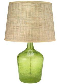 Jamie Young Lighting Table Lamp Base Plum Jar Celadon Seeded Glass Medium. #laylagrayce #lighting
