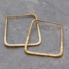 Gold Square Hoop Earrings
