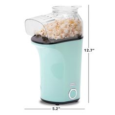 DASH Popcorn Machine: Hot Air Popcorn Popper Popcorn Maker with Measuring Cup to Measure Popcorn Kernels Melt Butter Aqua -- Details can be found by clicking on the image. (This is an affiliate link) Popcorn Kernels, Popcorn Maker, Hot Air Popcorn Popper, Specialty Appliances, Melted Butter, Measuring Cups, Aqua, Link, Image