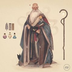 """(Dungeons and Dragons) """"Coralinus Tovensmore, a former researcher and alchemist of the Alabaster Lyceum. Coralinus set out as an adventurer… Fantasy Character Design, Character Drawing, Character Design Inspiration, Character Concept, Concept Art, Story Inspiration, High Fantasy, Medieval Fantasy, Dnd Characters"""