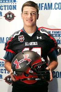 #PennState Commit - No. 1 ESPN 150 QB Christian Hackenberg receives his UA Game jersey