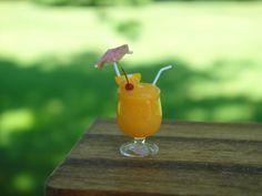 BAR: Tropical Drink / Orange Crush w/ Umbrella ~ Bar / Beach | eBay