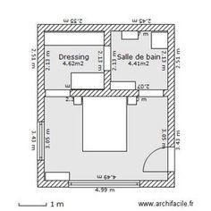 Plan Chambre Parentale Avec Salle De Bain Et Dressing #10 - Chambre Parentale 1