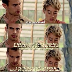 Find images and videos about love, insurgent and three on We Heart It - the app to get lost in what you love. Divergent Memes, Divergent Hunger Games, Divergent Fandom, Divergent Trilogy, Divergent Insurgent Allegiant, Insurgent Quotes, Divergent Fanfiction, Tris And Four, Tris Prior