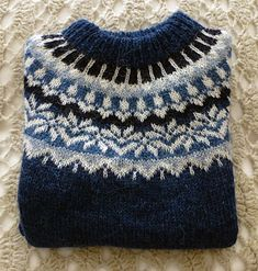 Ravelry: Mezzo2's Helen's Afmaeli Fair Isle Knitting Patterns, Knitting Stiches, Fair Isle Pattern, Easy Knitting, Knitting Yarn, Icelandic Sweaters, Knitting Projects, Ravelry, Knitted Hats