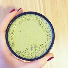 This coconut matcha latte my current morning obsession: it's packed with  healthy fats and clean protein so this drink sustains me through my AM  workouts (without the crash of a typical coffee/latte drink).  I've posted this drink a few times on Instagram and realized I needed to do  a full bl