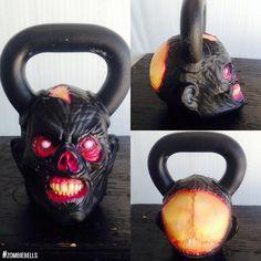 Custom Art Onnit Zombie Kettlebell #art #crossfit #zombie #horror #fitness  Onnit.com/zombie-bell