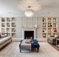 The Drawing Room at our Chelsea Project. Pendant by Fireplace by Flooring by Rug… Living Tv, Home Living Room, Living Room Designs, Living Room Decor, Luxury Interior Design, Interior Exterior, Interior Architecture, Living Room Panelling, Living Room Cupboards