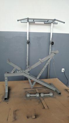 Homemade Gym Equipment, Diy Gym Equipment, No Equipment Workout, Home Made Gym, Diy Home Gym, Gym Workouts, At Home Workouts, Gym Rack, Home Gym Design