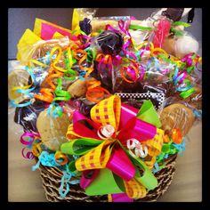 Bouquet filled with cookies, chocolates, cake pops, & candies