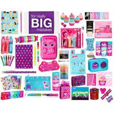 A fashion look from July 2015 featuring owl pencil case, zipper pencil pouch and word clock. Smiggle Stationary, Cute Stationary, Diy Back To School, School Fun, School Suplies, Cool New Gadgets, Bedroom Crafts, Locker Decorations, Kids Makeup