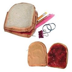 It's peanut butter jelly time! Excluding those who suffer from anaphylactic peanut allergies, the PB&J sandwich is a delicious and satisfying staple to a Cool Gifts, Unique Gifts, Awesome Gifts, Unique Bags, Coin Purse Wallet, Pocket Wallet, Small Wallet, Zipper Pouch, Stocking Stuffers
