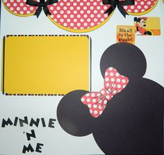 Minnie Mouse Double Page Scrapbooking Spread by SharonMyDesigns