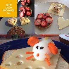 Delicious!!! Nutella, strawberry, eggs & cheese